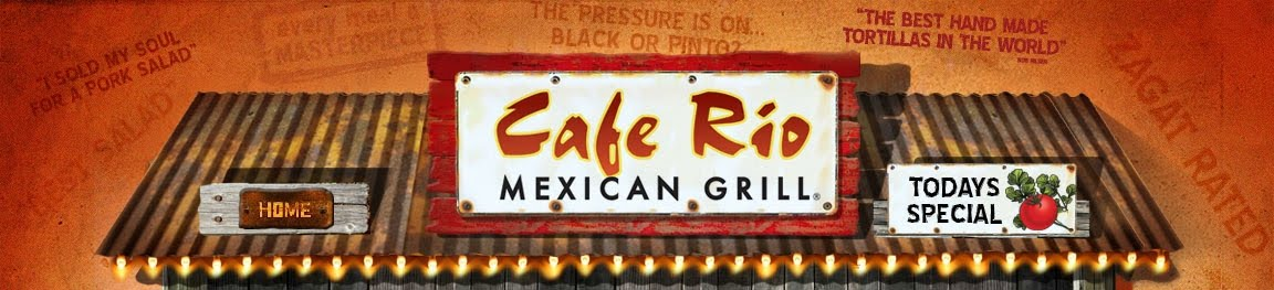 Join the Cafe Rio VIP club and you'll get discounts, info on special events, and FREE food! I just signed up and this is the info they wanted: favorite menu item email address store location (optional) phone number if you want to receive texts. Thanks Dixie Coupon Chicks!