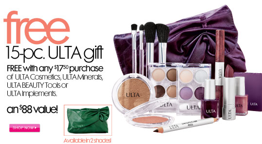 Free Makeup Gift Bag at ULTA with purchase! Worth $88 ...