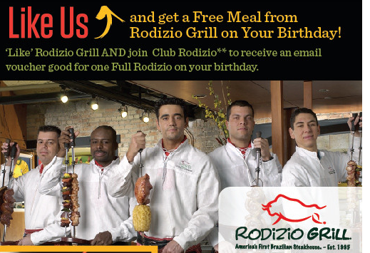 image regarding Rodizio Grill Coupons Printable titled Totally free Evening meal at Rodizio Grill upon your Birthday! - Freebies2Offers