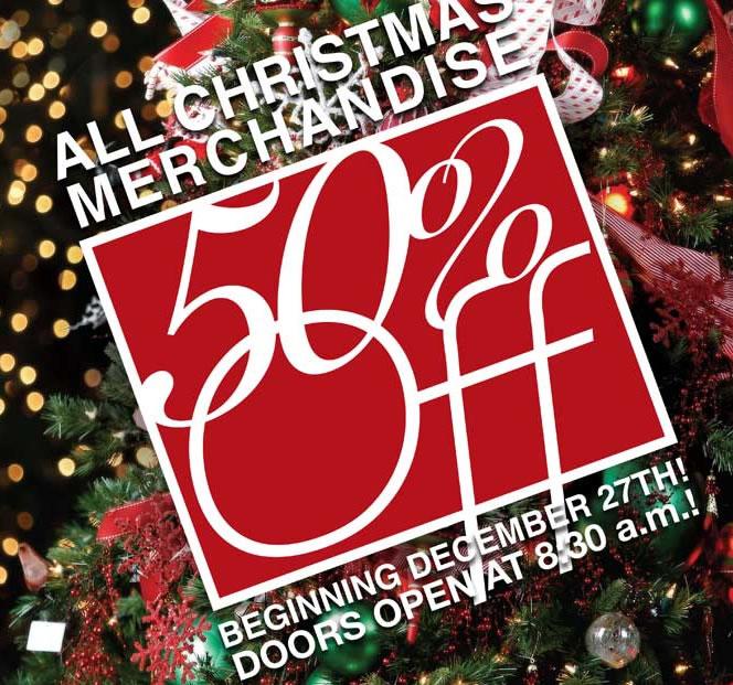 50% off all Christmas Items at Tai Pan Trading! (Even Christmas Trees!) - 50% Off All Christmas Items At Tai Pan Trading! (Even Christmas